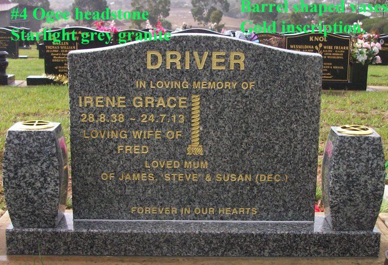 #4 Ogee headstone